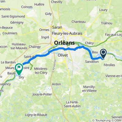De Route d'Orléans 91B, Darvoy à Rue du Port David 361, Dry