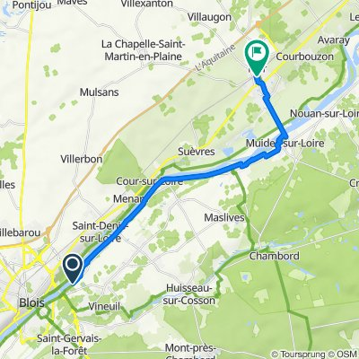 Boucle bords de Loire Blois-Gare de Mer étape 1