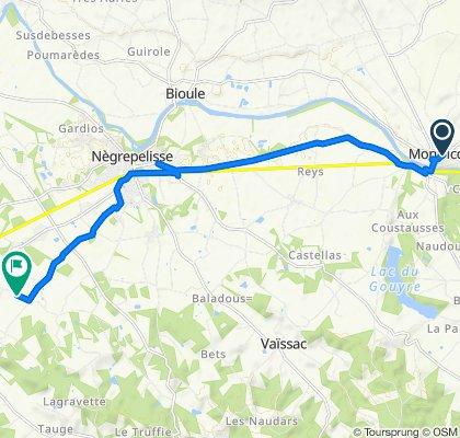 De 2–12 Chemin de Ronde, Montricoux à 1338 Chemin des Gamots, Saint-Étienne-de-Tulmont