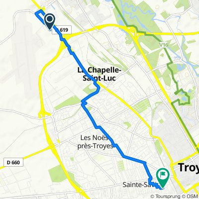 De Rue Amédée Bollée, Barberey-Saint-Sulpice à 8 Rue Rothier, Troyes