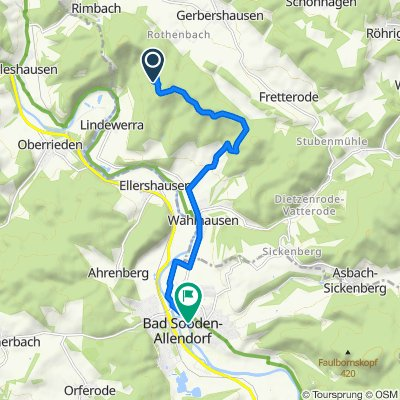 Route nach Bahnhofstraße 17, Bad Sooden-Allendorf