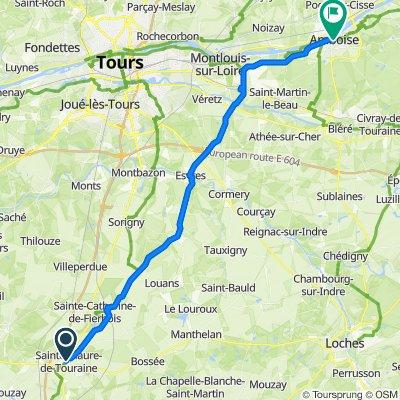 De 57–61 Avenue du Général de Gaulle, Sainte-Maure-de-Touraine à 50 Rue Rabelais, Amboise