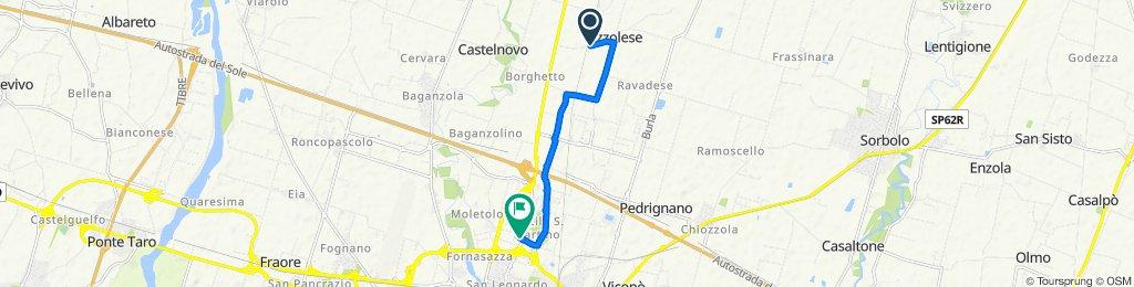 Da Via Mezzo Pizzolese 2, Parma a Via San Leonardo 106, Parma