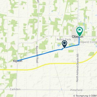 Oberlin Bike Path, Oberlin to 87 E Lorain St, Oberlin