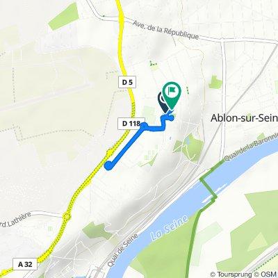 De 1 Avenue de l'Europe, Ablon-sur-Seine à 35–37 Allée de l'École, Ablon-sur-Seine