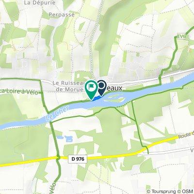 Itinéraire vers Rue de la Plage, Chisseaux