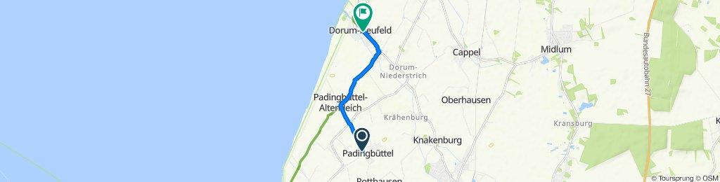 Wehlsweg 3, Padingbüttel nach Sieltrift 37, Dorum