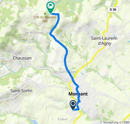 De 2 Rue des Rossignols, Mornant à 582 Route du Bouchat, Chaussan