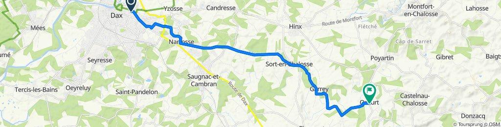 De Rue des Jardins, Dax à Route de Clermont, Ozourt