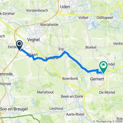 Poort van Veghel 4931, Veghel naar Fielepien 24, Gemert