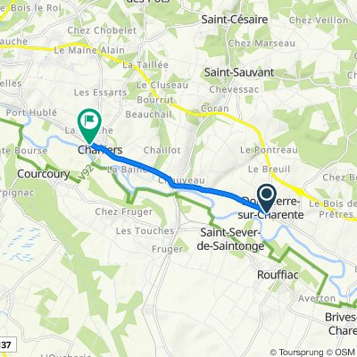 De 168 Rue de la Charente, Dompierre-sur-Charente à 34 Avenue des Deux Charentes, Chaniers