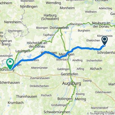 Pfarrer-Utz-Straße 12, Langenmosen nach Sankt-Erhard-Straße 9, Günzburg
