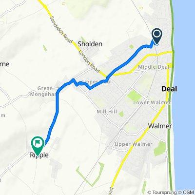 Century Walk, Deal to Sutton Lane, Deal