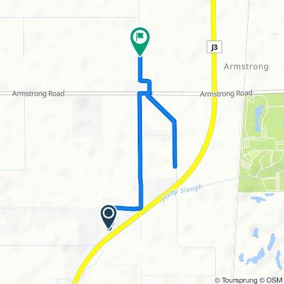 Route from 1912 Mettler Rd, Lodi