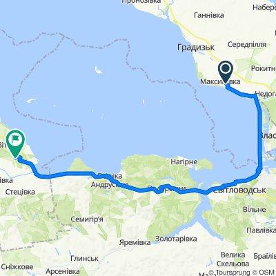 От вулиця Жовтнева, Максимівка до Unnamed Road, Орбіта