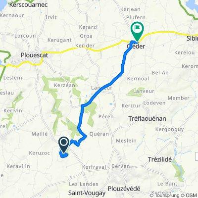 Keraouel, Plounévez-Lochrist nach 3–3T Place Charles de Gaulle, Cléder