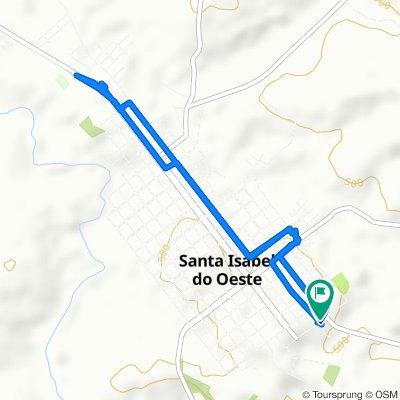 De Rua Guabiju, 890–998, Santa Izabel do Oeste a Rua Guabiju, 889–997, Santa Izabel do Oeste