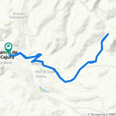 De Rua Aquiles Guimarães, 22–402, Carmo do Cajuru a Rua Joaquim Rabelo, 2–258, Carmo do Cajuru