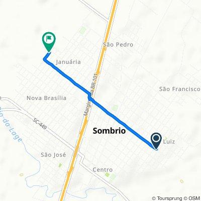 De Avenida Papa João Vinte e Três, 238–330, Sombrio a Rua André Justo Maggi, 558–782, Sombrio