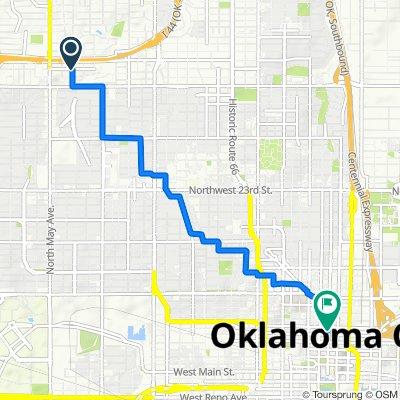 2700 NW 38th St, Oklahoma City to 593–633 N Harvey Ave, Oklahoma City