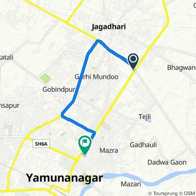 Old Court Road, Jagadhri to Yamuna Nagar