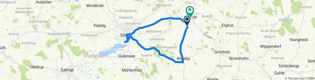 Schnabe 17, Sterup nach Am Alten Bahnhof, Sterup