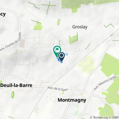 De 13 Rue des Érables, Deuil-la-Barre à 136 Rue de Verdun, Groslay