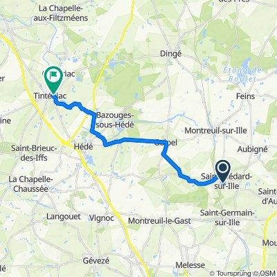 De Rue du Fournil, Saint-Médard-sur-Ille à 5 Cour Fontaine Saint-marie, Tinténiac