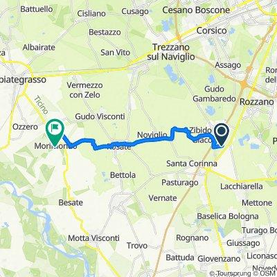 Percorso per Via Fratelli Attilio 1, Morimondo