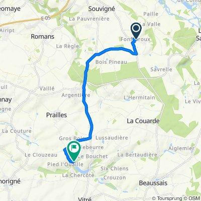 De 1–5 Chemin du Noyer Jacquet, Souvigné à 1–291 Biard, Prailles