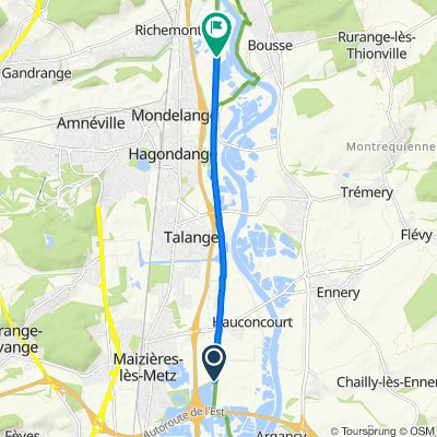 Route von Route du Canal, Hauconcourt