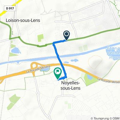 De 71 Route d'Harnes, Loison-sous-Lens à 3 Rue de Frontignan, Noyelles-sous-Lens