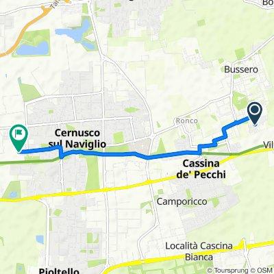 Da Viale Europa 20, Bussero a Via Michelangelo Buonarroti, Cernusco sul Naviglio