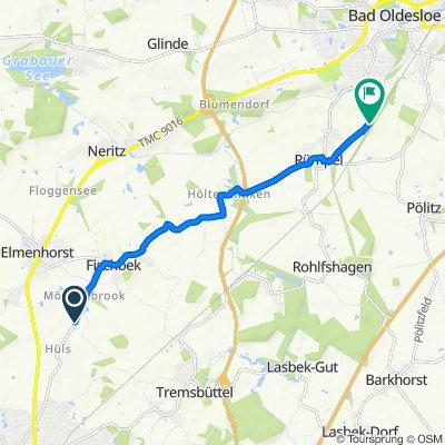 Mönkenbrook, Elmenhorst nach Besttorritzen, Bad Oldesloe