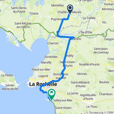 Etape 10 : Chaillé les Marais - Angoulins
