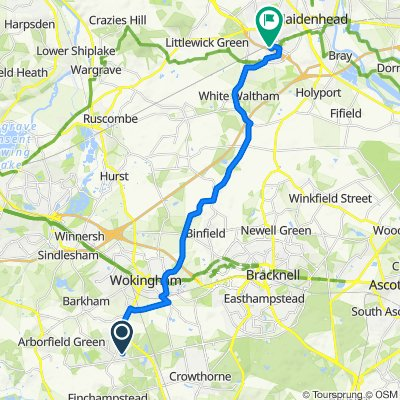 54 Foxcote, Wokingham to Objects House, Vanwall Road, Maidenhead