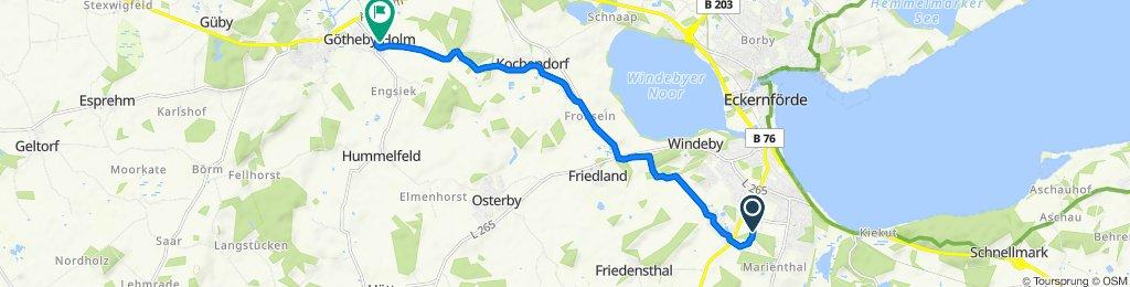 Holm 13, Eckernförde nach Möhlhorster Weg 19A, Fleckeby