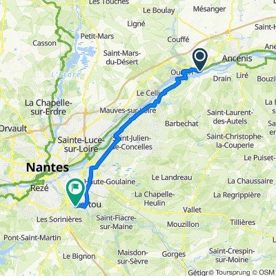 Itinéraire vers 4 Impasse du Québec, Vertou