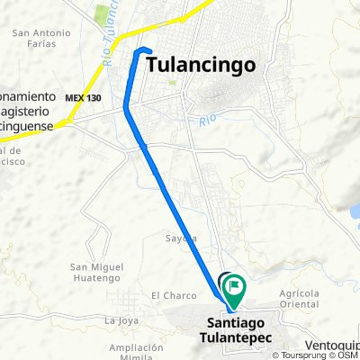 De Carretera a Santiago Tulantepec, Santiago Tulantepec de Lugo Guerrero a Avenida Jardin Felipe Carrillo Puerto 19, Santiago Tulantepec de Lugo Guerrero