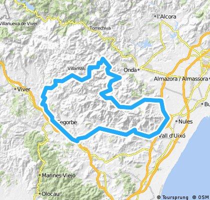 La Vall- Artana-Eslida-Vilamalu-Matet-Segorbe-La Vall