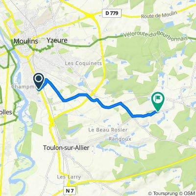 Route de Lyon 153, Moulins nach D286, Toulon-sur-Allier