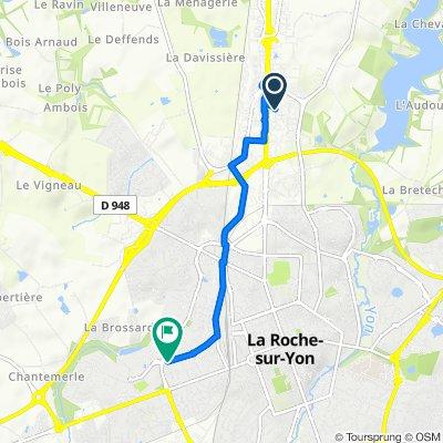 De 60 Rue Graham Bell, La Roche-sur-Yon à 119 Rue de Saint-André d'Ornay, La Roche-sur-Yon