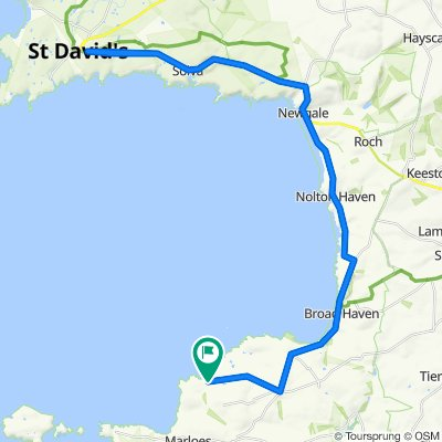 St Brides to St Davids and back