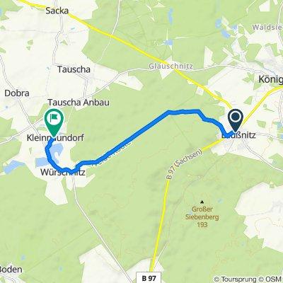 Laußnitz nach Kleinnaundorf