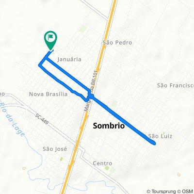 De Rua André Justo Maggi, 557–781, Sombrio a Rua André Justo Maggi, 558–782, Sombrio