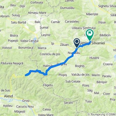 Route to Strada Independenței 32–66, Şimleu Silvaniei