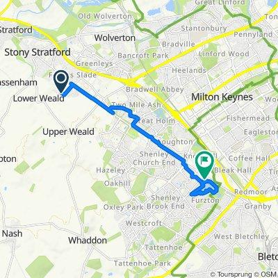 32 Cicero Crescent, Milton Keynes to 27 Shirwell Crescent, Milton Keynes