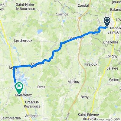 Itinéraire vers 351 Route de Bourg, Malafretaz