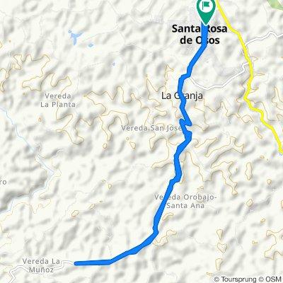 De Carrera 30 30-24, Santa Rosa de Osos a Carrera 30 30-24, Santa Rosa de Osos