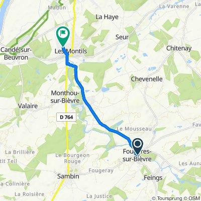 De 1 Rue Henri Goyer, Fougères-sur-Bièvre à 9 Rue du Bac, Les Montils